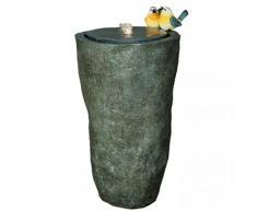 Velda Fontana da Giardino a Vaso Alto con Uccellini Grigia 850848