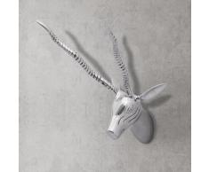vidaXL Decorazione da parete Testa cervo colore argento 36 cm