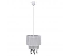 vidaXL Lampada di soffitto pendente, Lampadario cristallo bianco