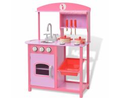 vidaXL Cucina Giocattolo in Legno 60x27x83 cm Rosa