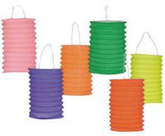Lampion Cylindrique 13cm Uni Coloris Assortis - Lot De 30 [Jouet]