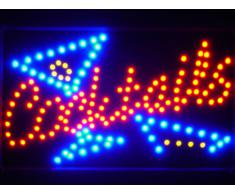 LAMPE NEON ENSEIGNE LUMINEUSE LED led040-r Cocktails Bar LED Neon Light Sign Whiteboard