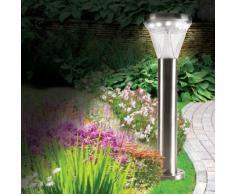 Lampe solaire de jardin 13 LED avec fixation au sol ou au mur