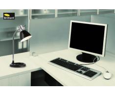 Brilliant 92762/06 Lampe de Bureau Jan Moderne 40 W E27 230 V Noir
