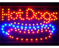 LAMPE NEON ENSEIGNE LUMINEUSE LED led084-r Hot Dogs Cafe Led Neon Sign WhiteBoard
