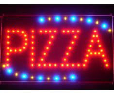 LAMPE NEON ENSEIGNE LUMINEUSE LED led008-r Pizza Shop OPEN LED Neon Business Light Sign