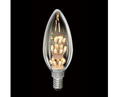 Carbone rustika ampoule bougie lED 10 w = 1 w e14 blanc chaud 2700 k deco ampoule a