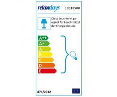 Relaxdays-10018500 Lampe de Table inclinable style industriel design luminaire de Bureau effet laiton bois hauteur réglable