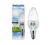 Philips Lot de 4-B35 28W (= 40W) culot E14 à économie d'énergie avec ampoule bougie halogène EcoClassic