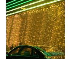 iDream - 1000 LEDs Guirlande Rideau lumineux 10m * 3m de 8 modes differents - pour la decoration intérieur / extérieur comme hotel marriage cérémonie soirée fête etc. - IP44, pour utilisation intérieur seulement (Blanc chaud)