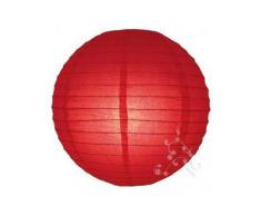 Lampion boule chinoise rouge 30 cm