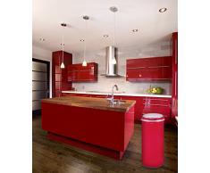 Kitchen Move BAT-42LI Design Originale Poubelle Sensor Automatique 42L Rouge 31 x 74 cm