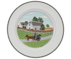 Villeroy & Boch 10-2337-2622 Assiette Plate Porcelaine Vert 29,2 x 29,2 x 8,5 cm 1 Assiette