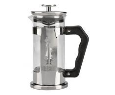 Bialetti 0003160/NW Cafetière à piston, 18/10 Steel, Noir, Acier Inoxydable, 3 Tasses