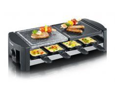 Severin - 2683 - Raclette / gril avec pierre de cuisson naturelle - 1300 W - 8 poêlons - noir