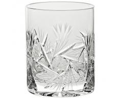 "Verre à whisky, Verre à jus de fruit/eau, Collection ""ROTATION STAR"", transparent, cristal, H=10,5 cm style moderne - uniques (GERMAN CRYSTAL powered by CRISTALICA)"