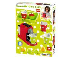 Jouets Ecoiffier – 2614 - Set Expresso : machine à café pour enfants + accessoires – 16 pièces – Dès 18 mois – Fabriqué en France