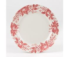 TABLE PASSION - ASSIETTE PLATE SPLENDOR ROSE (LOT DE 6)