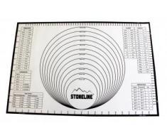 STONELINE Tapis de Cuisson 58,5Â x 39Â cm en Silicone, avec Lignes daide et Tables de Conversion, Dimensions inetrnationales