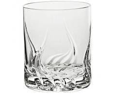 """Verre à whisky, Verre à jus de fruit/eau, Collection """"FLAME"""", transparent, cristal, H=10 cm style moderne - uniques (GERMAN CRYSTAL powered by CRISTALICA)"""