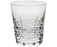 """Verre à whisky, Verre à jus de fruit/eau, Collection """"SQUARE"""", transparent, cristal, H=10,5 cm, style moderne - uniques (GERMAN CRYSTAL powered by CRISTALICA)"""