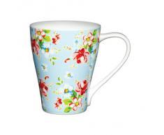 Kitchen Craft Mug en porcelaine anglaise Motif floral Bleu