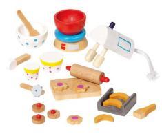 Accessoires Cuisine, bois, 22 pieces, 51851