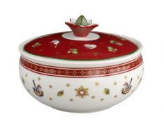 Villeroy & Boch Toys Delight Sucrier, Porcelaine Premium, Blanc/Rouge