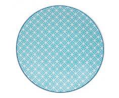 TABLE PASSION - ASSIETTE PLATE HELYSE 27CM VERT (LOT DE 6)