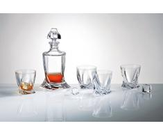 Bohême cristal Coffret 1 carafe á whisky et 6 verres á whisky Quadro