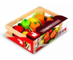 Janod - J05610 - Accessoires de cuisine - Cagette 12 Fruits