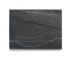 Zeller 26257 Planche à découper en verre Motif ardoise Anthracite