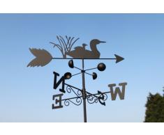 Girouette canards en acier avec mât et fixation murale