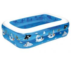 Friedola 12450 Piscine Arctic avec Fond Gonflable - My First Pool 136x96x38 cm Mixte Adulte, Multicolore
