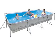 Jilong Piscine Rectangulaire 394x207x80 cm gris