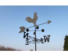Weathervanes Girouette coq en acier avec mât et fixation murale