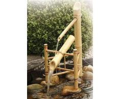 Fontaine de jardin en bambou naturel