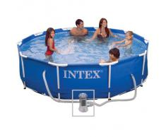 Intex 07795 Piscine Tubulaire Blanc Diamètre 3.05 x 0.76 m
