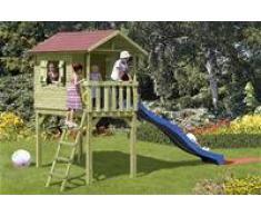 Maisonnette en bois pour enfants 240 x 120 x 290 cm