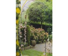 arceau gloriette 2,4m decorative de jardin pour roses et fleurs grimpantes