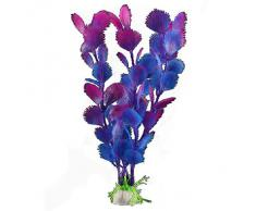 FACILLA® Plante Artificielle Bleu Violet En Plastique Décoration Aquarium