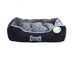 Me & My Pets Panier ultra doux pour chien Entièrement lavable en machine Noir/gris