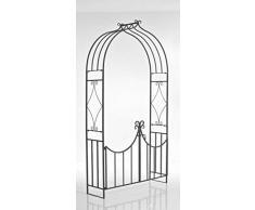 CLP Arche de Jardin avec portillon VIOLA, Gloriette jardin, Arche avec portillon exclusive revêtue de métal, bronze