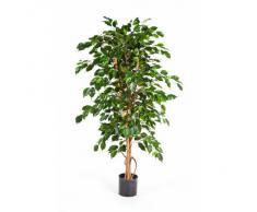 Ficus Exotica artificiel en pot, 495 feuilles, vert, 120 cm - ficus synthétique / arbuste artificiel - artplants