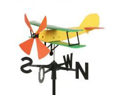 Schumm 41022439 Girouette avion Jaune 55 x 47 x 33 cm
