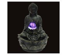 Zen Light SCFRB8G Bouddha Médiation Grand Fontaine d'Intérieur Marron Foncé/Chocolat 21 x 21 x 30 cm