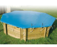 Couverture hivernage de securite pour piscine bois diam 4.10m - nortland ubbink 7514388