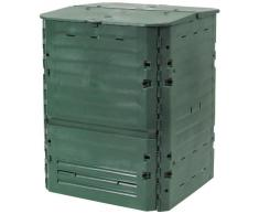 Tierra Garden Grand composteur « Thermo King » en polypropylène, dune capacité de 600 litres 160-Gallon Green
