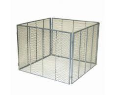 greemotion 360052 Composteur en métal déployé 100 x 100 x 80 cm