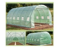 Probache - Grande serre de jardin tunnel 7 arceaux Pro galvanise 18m² 6x3x2m